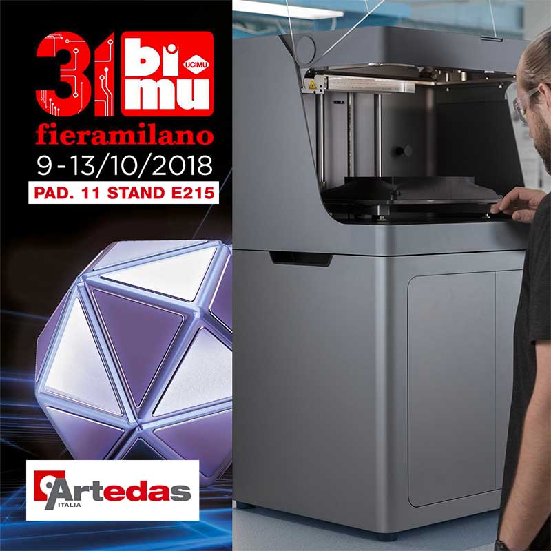 Quale stampante 3D comprare? Vieni al 31BI-MU da Artedas Italia