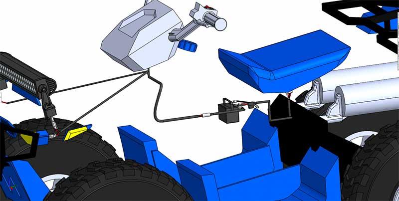Instradamento del cablaggio elettrico del veicolo
