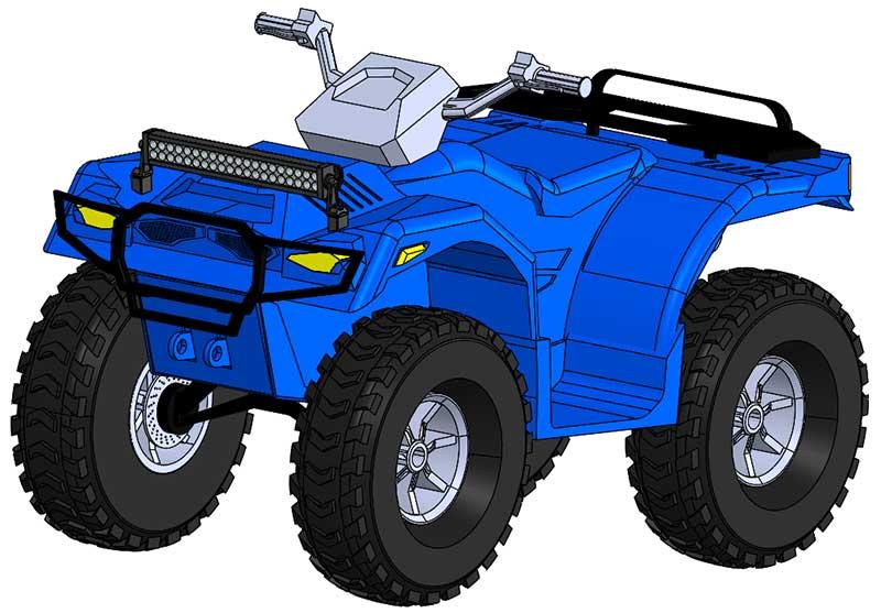 Modello ATV scaricato da GrabCAD